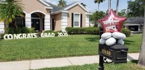 Graduation Mailbox Display Deliveries Tampa Balloons