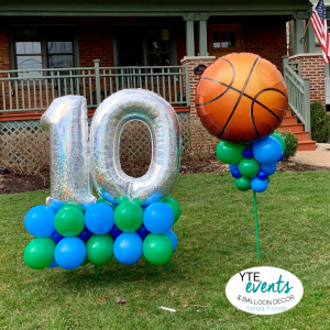 10th birthday baseketball delivery balloon yard decor tampa florida