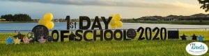 1st Day of School Yard Card Display Back to School