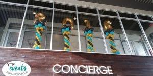 Graduation Day balloon decor event