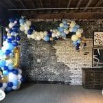 First birthday organic balloon decor