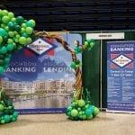 Balloon Organic Tree Arch for Trade Show event Centennial Bank