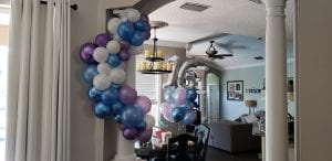 Organic balloon decorations sweet 16 in home delivery