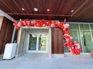 Christmas balloon organic display for entrance decorations