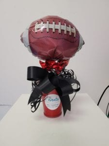 Superbowl Champions 2021 football balloon centerpiece