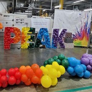Amazon balloon decor color peak week rainbow tampa florida balloon decorations color splash