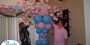 Baby Gender Reveal Girl Popped Balloon