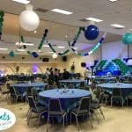 Baby Shower at ICC event with balloon ceiling decorations