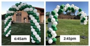 Balloon Arch before and after