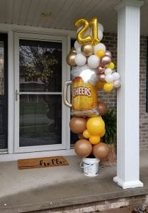 Balloon Bouquet with Foil Beer Mug Delivery