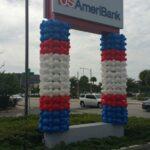 Balloon Columns outdoor for USameribank event Westshore Mall