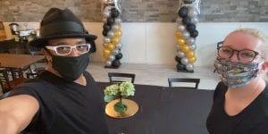 Balloon Graduation Columns setup by YTE Events Crew