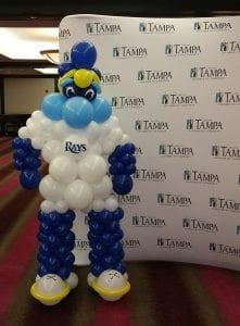 Tampa Bay Rays Mascot Balloon Sculpture