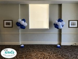 Balloon Topiary bouquets for stage