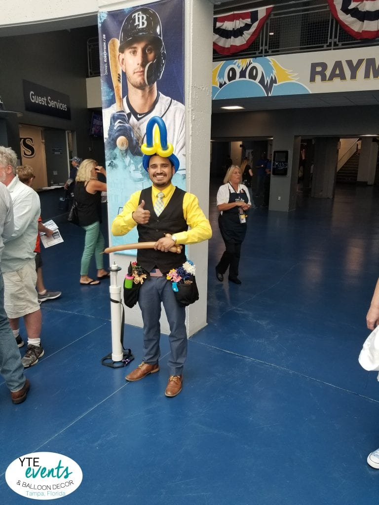 Balloon Twister at Tampa Bay Rays event