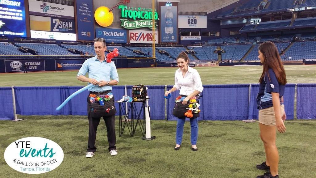 Balloon Twisters for Tampa Bay Rays Baseball games