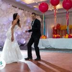 Balloon Wall Bubble Organic Wedding dance floor photo