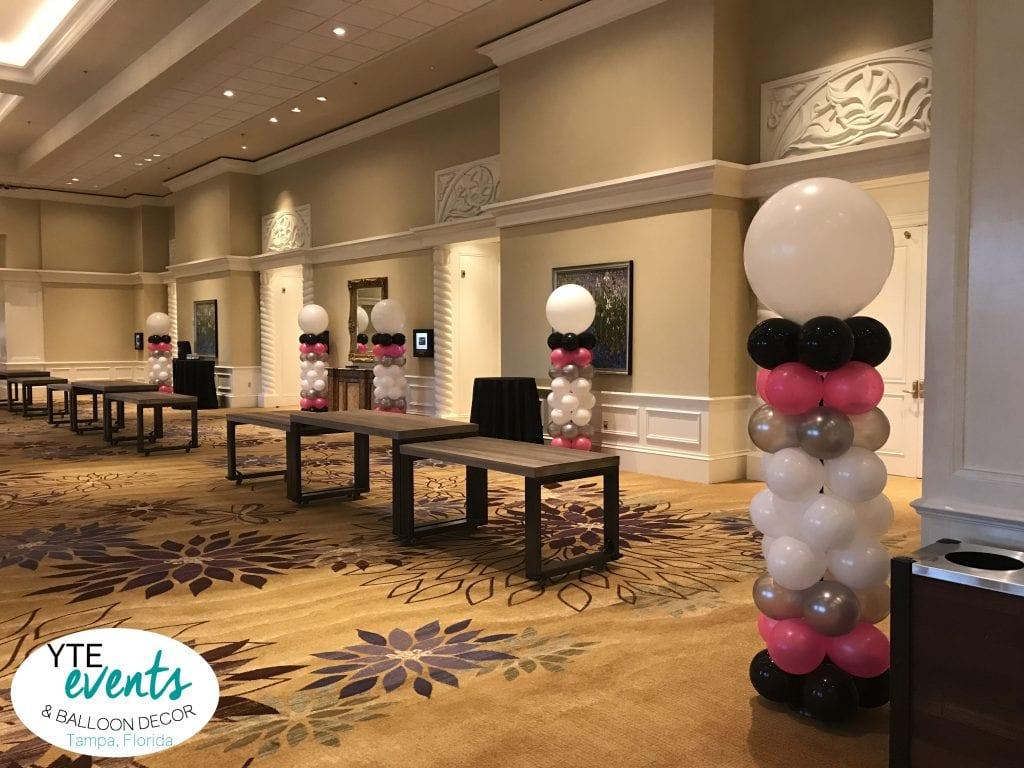 Balloon columns for sprint event in Orlando Florida
