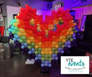 Balloon sculpture for a private pride event.