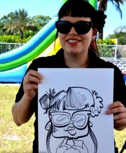 Hire a caricature artists for your next tampa birthday party