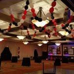 Casino Themed Prom Night Ceiling Decorations