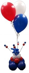Centerpiece Patriotic Red White Blue Delivery Helium
