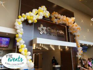 Cinepolis grand opening balloon decorations organic garland