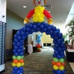 Clown arch balloon sculpture for circus carnival events