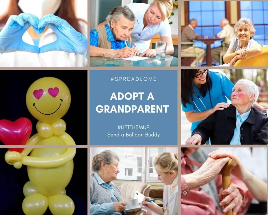 Adopt a Grandparent balloon buddy tampa florida liftthemup