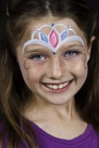 face painter princess crown
