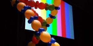 DNA strand balloon decor sculpture decoration for event