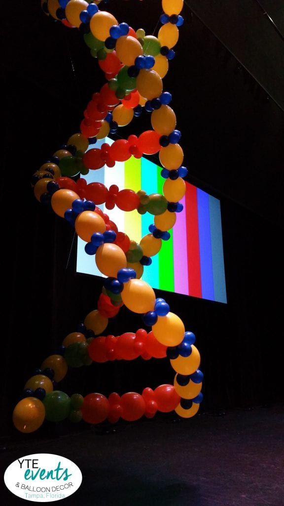 DNA strand balloon decor sculpture decoration for event