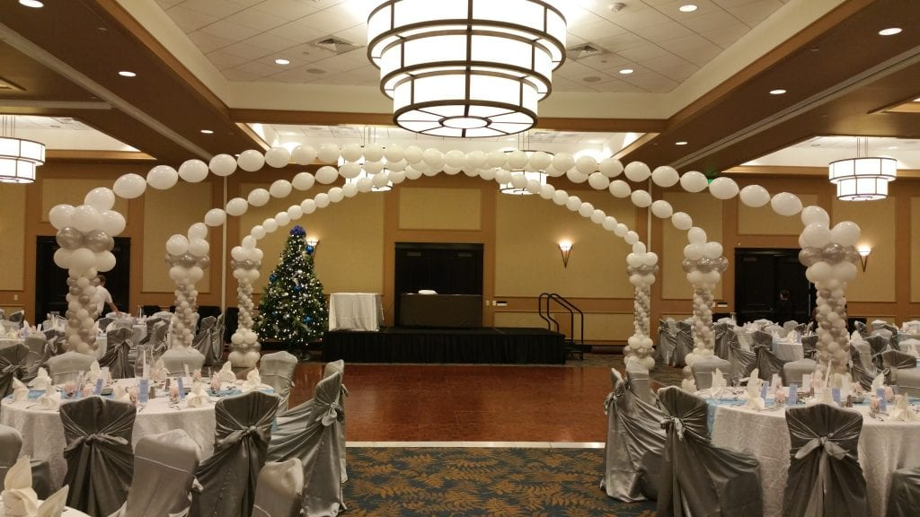 Wedding venue corporate decor