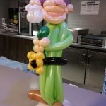 Dopey Balloon Sculpture table piece for event