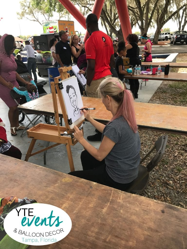 Drawing Caricature art for an event