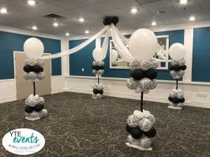 Elegant dance floor canopy for event