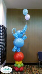 Elephant on a ball circus themed balloon sculpture