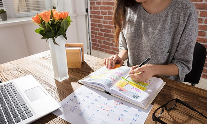 Event Planning Photo of Calendar