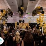 Excitement of a balloon drop for new years eve event Tampa Florida