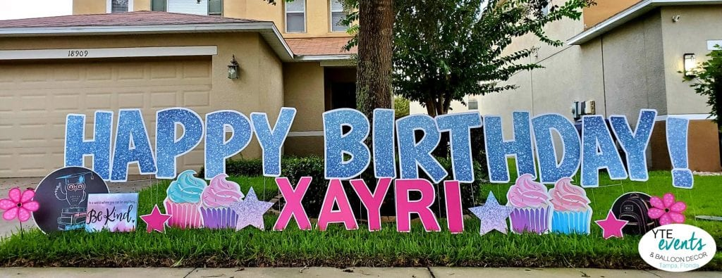 Extra Large Letters Happy birthday blue glitter birthday party
