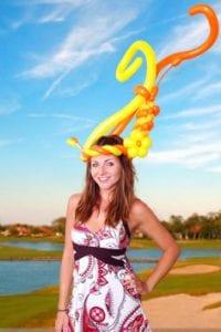 Fox Hollow Lauren Balloon Girl YTE Events Balloon Hat Royal Ascot