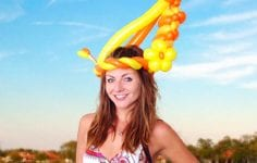 Fox Hollow Lauren Balloon Girl YTE Events Balloon Hat Royal Ascot