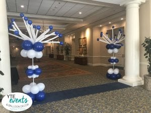 Fun and Festive Balloon Columns with Crazy Toppers