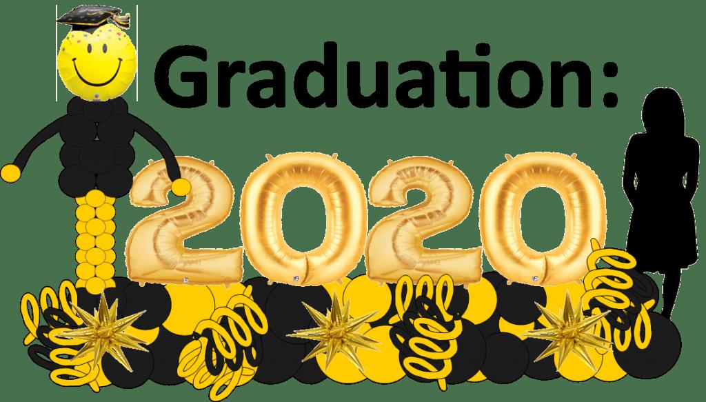 Graduation balloon decor 2020 deliveries Tampa Florida