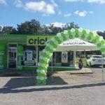 Cricket Grand Opening Balloon Decor