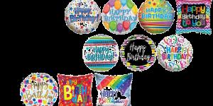 Happy Birthday Foil Balloons Generic Options