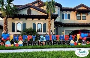 Happy 4th Birthday Christopher Tampa Florida Yard Signs