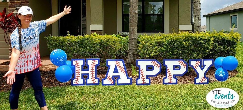 Happy Baseball themed yard signs