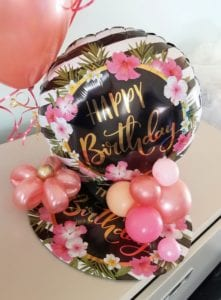 Happy Birthday Balloon Delivery Centerpiece for Mothers birthday