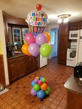 Happy Birthday Balloon Delivery Cupcake Bouquet